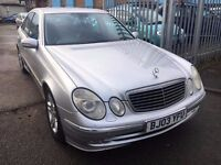 MERCEDES E 220 DIESEL 2.2 AVANTGARDE AUTOMATIC 2003 HALF LEATHER SATNAV
