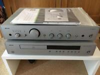 Arcam amplifier and CD player with Monitor Audio speakers