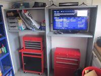 Full Steel Garage Tool Storage Shelving Metal Workshop Racking