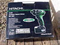 Hitachi 10.8v Cordless Impact Driver (WH 10DL)