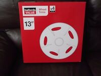 "halfords 13""wheel trims (boxed)"