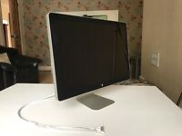 "Apple 24"" Cinema Display with speakers and iSight built in"