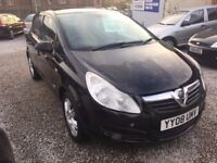 08 VAUXHALL CORSA DESIGN 1.3 CDTI DIESEL IN BLACK *PX WELCOME* 12 MONTHS MOT £1195