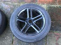 "4 No black 17"" Momo alloy wheels with Falken Eurowinter winter tyres"