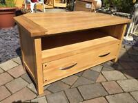 Oakfurnitureland Solid Oak TV Cabinet