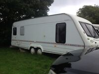 Elddis crusader 4 berth twin axle caravan complete with everything full awning etc
