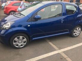 Stunning 2007Toyota Aygo Blue for sale. Low mileage. Full 12 months M.O.T in mint condition
