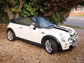 Mini Cooper S Convertible White