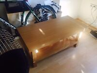 tea table, living room table, wood like double deck, bought from Argos