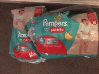 Pampers pull up nappies size 4