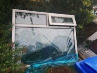 64x51 inches pvc window frame with top opener
