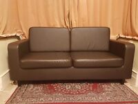 Sofa/couch 3 seater in chocolate brown colour