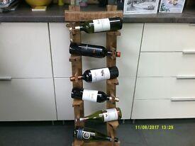 Hardwood rustic Wine Rack