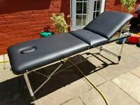 Treatment bed, aluminium frame, brand new, foldable, bought nearly £100