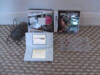 White Nintendo Ds Lite with games and accessories
