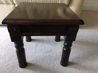 Mahogany sturdy side table, plant or lamp table. Solid wood