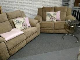 2 x 2 reclining sofas