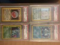 Psa 9 graded pokemon cards!!