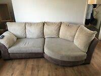 3 seater with arm chair and puffy £150