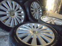 "17"" genuine vw turbine alloys wheels scirocco r32 audi a4 passat jetta a3 5x112 golf caddy t4 t3"