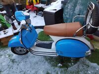 Excellent two tone moped