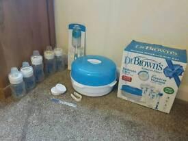Dr Brown steriliser and bottle set