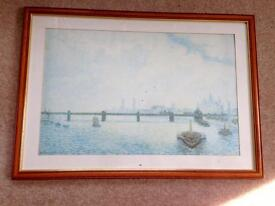 "Picture - Large framed print ""Charing Cross Bridge"""