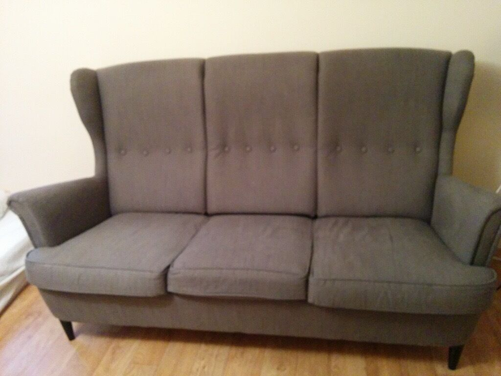 three seater ikea strandmon sofa rrp 400 good condition in oxford oxfordshire gumtree. Black Bedroom Furniture Sets. Home Design Ideas