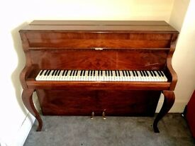 UPRIGHT PIANO, NEWLY REFURBISHED, WARM SOUND, CHERRY WOOD, EXCELLENT CONDITION