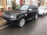 2006 06reg Range Rover Sport HSE 2.7 Tdv6 Black Big Alloys