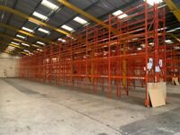 REDIRACK PALLET RACKING BUNDLE with 5.85m frames 2.65m beams (Chelmsford Branch)