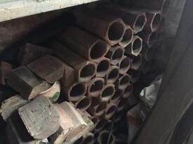 Hexagonal clay pipes - wine rack