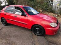 Daewoo Lanos SX 1598cc Petrol 5 speed manual 5 door hatchback T Reg 24/06/1999 Red