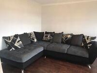 Sofaworks Napier Black/Grey Corner Sofa