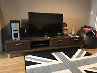 TV stand + TV + 2 SOFAS + ITALIAN STYLE BED WITH MATTRESS