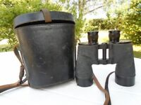 Vintage REL Canada 1944 WWII 7x50 binoculars in hard carry case