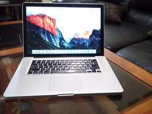 "Apple MacBook Pro 15"" Intel Core 2 Dou 8gig Ram 240gb SSD Solid State 256mb Graphics Webcam WiFi Good Battery $600 Only"