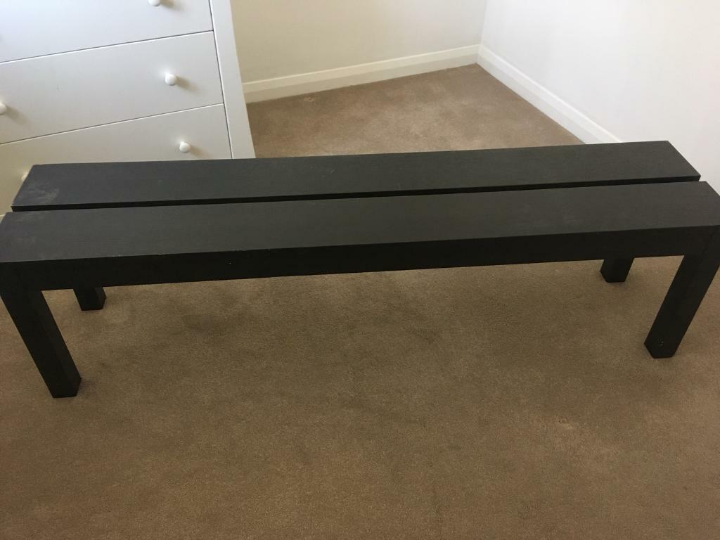 Ikea Dining Table Bench Dark Wood Colour