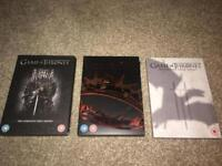 Game of Thrones DVDs season 1-3