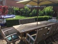 NEW Rustic Garden Table 8ft x 3ft