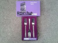 Viners Executive Suite Stainless Steel Pastry Forks.