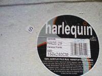 Harlequin floor rug. Acrilic hand tufted pile. 5ft. X 8ft. 1500 x 2400mm. CARAMEL FIELDS.
