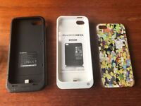 iPhone 5 / 5S Accessories (2 power packs and a SIMPSONS case)