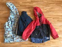 3 year old boy summer jacket, rain coat bundle