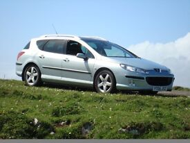 2005 Peugeot 407 SW with engine failure -offered as a challenge to a person mechanically willing.