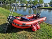 Sea Search 4.0m RIB / SIB / Inflatable Boat 15HP Yamaha Engine - Aluminium Deck