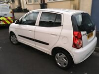 White Kia Picanto 1.0 - perfect for new drivers or as a city run around
