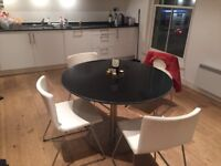 Dining table and chairs x4 for sale by 3rd March