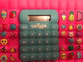 Smiggle calculator pencil case
