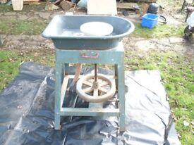 Kick potters wheel Wengler Ltd no 15239. good working order, not pritine. carrying handles